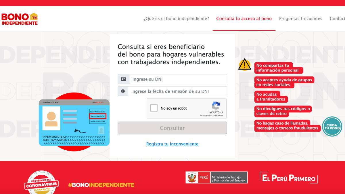 Bono Independiente 760 soles: dónde y cómo cobrar la segunda ...
